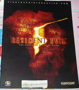 resident evil 5, complete official game strategy guide, paperback, 1 book, used