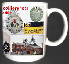 Sutton Manor Colliery Coal Mine Mug Limited Edition Great Gift Miners Lancashire