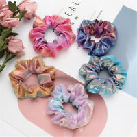 Elastic Bronzing Glitter Hair Ring Hair Rope Ponytail Scrunchie Hair Bands Hot *
