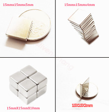 15mmx15mm Thickness:2/3/4/5/10mm Strong Block Rare Earth Neodymium Magnets N50