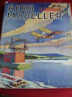 RARE VINTAGE  AEROMODELLER JANUARY 1941 MODEL AIRCRAFT THE COURIER LOW WING MONO