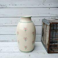 Vintage Old Cape Cod Stoneware Large Tall Pottery Vase Handmade Handpainted