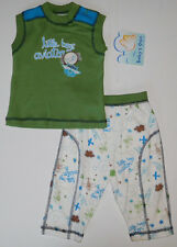 Size 9 months - Baby's Own Baby Boys Pant and Green Top Shirt