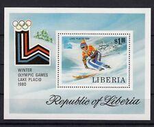 Block Liberia Olympia 1980  Olympia  postfrisch