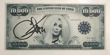 Cher Signed Autographed 10,000 Bill