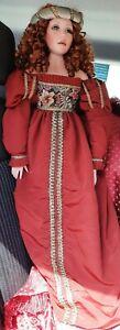Pat Dezinski and Rustie Designs #368/750,  34 inch Renaissance Doll,  year 2000