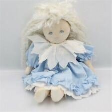 Ancienne Poupée Tissu robe bleu cheveux blanc MUNDIA - Poupée - Lutin Classique