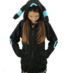Cute Umbreon Cosplay Unisex Soft Long Sleeve Hoodies Warm Coat Daily Jacket Gift