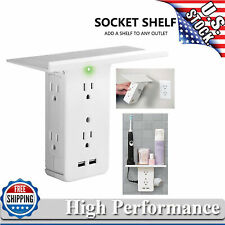 Us Electrical 8 Port Socket Shelf Surge Protector Wall Outlet 6 Outlet Extenders