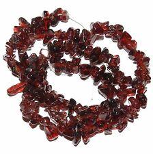NGXL1138f 10-Strands Natural Red Garnet Medium 8mm Nugget Chip Gemstone Beads