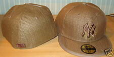 Khaki New York Yankees Custom New Era Hat MLB Cap 7 Brown Straw Hat Baseball