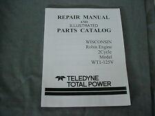 WISCONSIN  ROBIN  ENGINE WT- 125V  REPAIR & PARTS MANUAL BRAND NEW