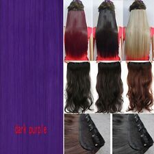100% Real Thick Clip In Hair Extensions Full Head Hair Extentions Long Human AP2