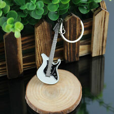 Stainless Steel Metal Musical Guitar Key Ring Keychain Gift-Free delivery