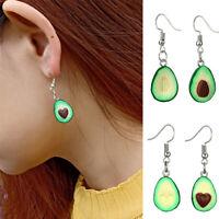 Women Lovely Cute Heart Avocado Fruit Dangle Drop Hook Earrings Jewelry Trendy
