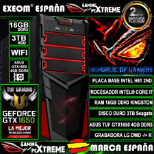 Ordenador Gaming Pc Intel Core i7 16GB 3TB ASUS GTX1650 4GB TUF Gaming Sobremesa