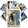 Postcards Pack [24 cards] Ski Winter Sport Europe Vintage Travel Posters CC1035