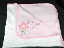 Carters Baby Girl Pretty Princess Pink White Blanket Flower Heart Pink Trim