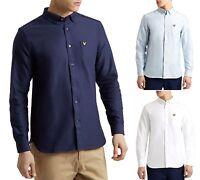 Lyle & Scott Mens Cotton Oxford Shirt Regular Fit Long Sleeve Button Down Collar