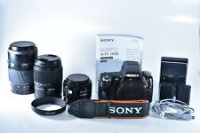 Sony Alpha SLT-A55 16.2MP Digital SLR Camera w/ 18-70mm 50mm & 100-300mm Lenses
