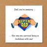 Funny Father's Day Card - Self Isolation / Quarantine / Lockdown - Super Dad