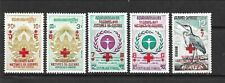 CAMBODIA Sc B13-17 NH issue of 1963 - RED CROSS OVERPRINTS