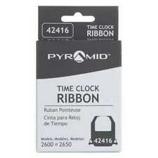 Pyramid 42416 Time Clock Replacement Ribbon,Black/Red