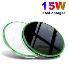US Fast 15W Qi Wireless Charger Charging Pad Mat For Apple iPhone 11 11Pro 8 XS