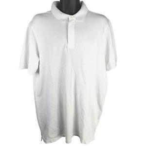 NWT American Eagle White Polo Shirt Men's Size LT