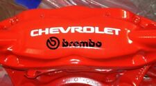 White / Black CHEVROLET + BREMBO Hi Temp Caliper Decals Stickers - Camaro SS RS
