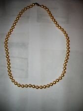 """Vintage Marvella Faux Pearl Knotted Classic Necklace With Hidden Clasp, 19 1/2"""""""