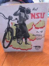 Original vintage NSU GERMAN BICYCLES CATALOG c.1949 Brochure Foldout RARE