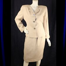 CHRISTIAN DIOR [NEW NORDSTROM TAG]  Nude Champagne Woman Skirt Suit
