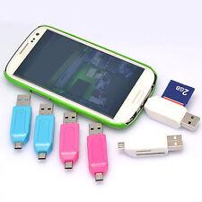 Micro USB +2.0 OTG Adaptador SD Lectores tarjeta memoria Smart Phone