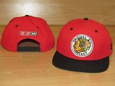 CCM Chicago Blackhawks Original 6 Six Vintage Logo Snapback Hat Cap size Men's