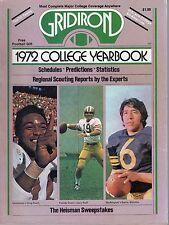 1972 Gridiron College Football Yearbook magazine, Greg Pruitt, Sonny Sixkiller