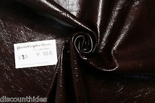 Med leather hide: Brownie Batter. Waxy, crackle finish. Appx 6 ft. L35Y10-5