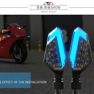 Plastic Motorcycle Accessories 12V LED Signal light DRL Blue& Amber Warning Lamp