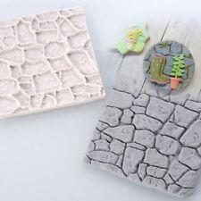 Silikon 3D Kopfsteinpflaster Stein Fondant Form Kuchen matte Glasur DIY Schimmel