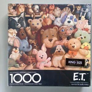 Vintage E.T. Movie Springbok Jigsaw Puzzle 1000 Piece 1982 Factory Sealed NOS