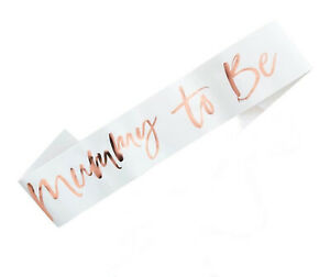 Baby Shower Sash Mummy To Be Mum To Be Sash Rose Gold Gender Reveal Decorations