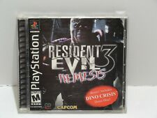 PS 1 RESIDENT EVIL 3: NEMESIS AND DINO CRISIS (DEMO DISK). COMPLETE.