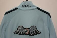 Von Dutch Mens Flying Eyeball Jacket blue Embroidered Size XL kustommade patch