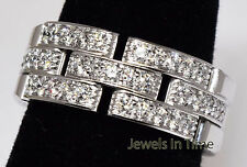 Cartier Maillon Panthere Ring 18k White Gold & Diamond Ladies Size 54 / 6.5