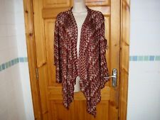 Ladies lovely WORTHINGTON WOMAN waterfall lightweight cardigan size 12-14 vgc v