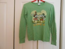 "MICKEY MOUSE GREEN LONG SLEEVE T-SHIRT ""MINNIE AND MICKEY"""