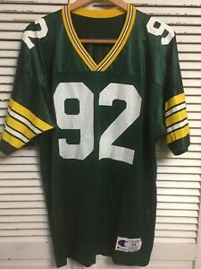 Vintage Green Bay Packers Reggie White 92 Champion Jersey MADE IN USA Adult 44