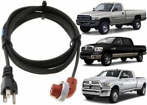 Block Heater Cord For 1989-2018 Dodge Ram 5.9 6.7 Diesel New Free Shipping
