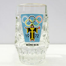 Vintage Retro 1970s Half Pint Glass Tankard Olympic Games Munich 1972