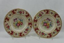 Old Ivory Syracuse China Dresden Flowers Set 2 Soup Bowls